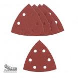 Fogli abrasivi fissaggio velcro forati (5 pz)