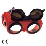 Occhiali di protezione per saldatura doppia lente