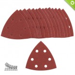 Fogli abrasivi fissaggio velcro forati (15 pz)