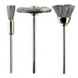 Spazzole in acciaio assortite (kit 3 pz)
