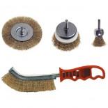 Spazzole in acciaio assortite (kit 4 pz)
